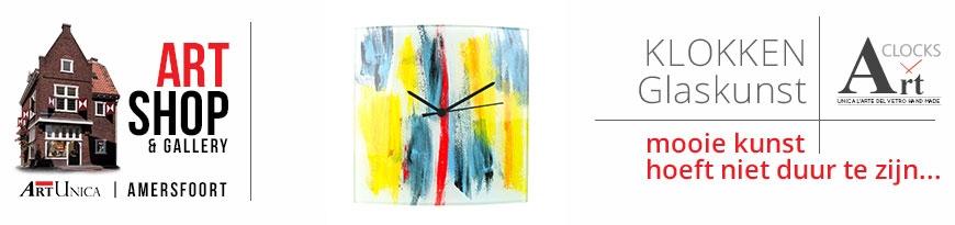 Glaskunst klokken
