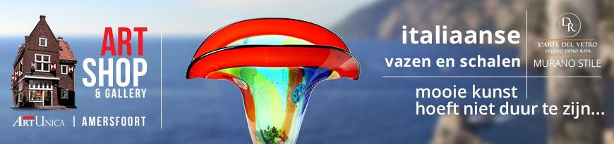 Glaskunst vazen en schalen