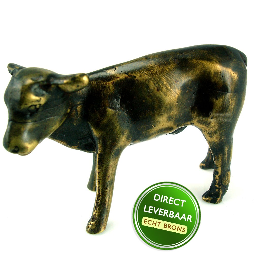 Bronzen beeldje Kalf Art Unica