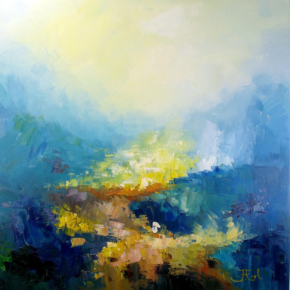 Schilderij Abstract John Frel Power of Nature