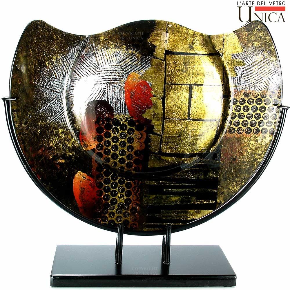 Siervaas zwart glas Unica Masseto