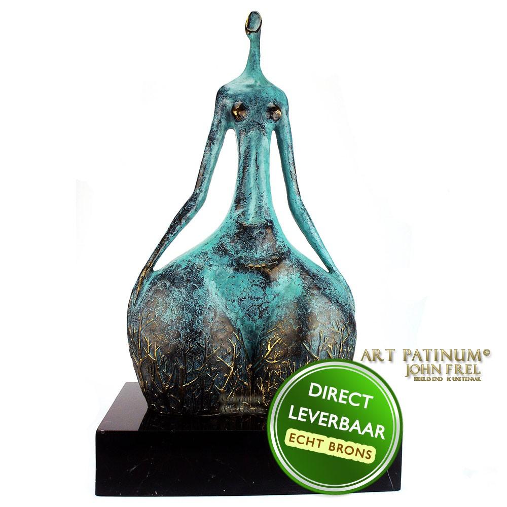 Bronzen beeld Elle Gepatineerd door John Frel