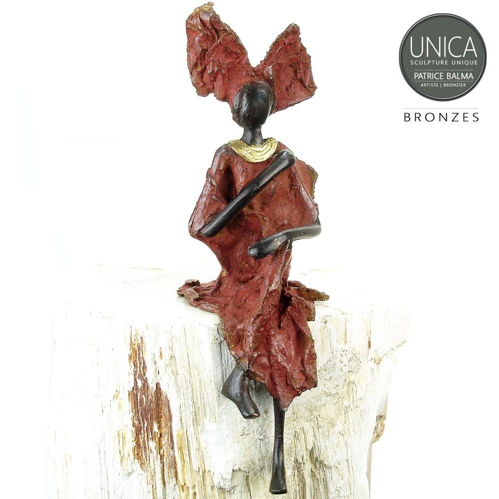 Afrikaans beeld brons Babette