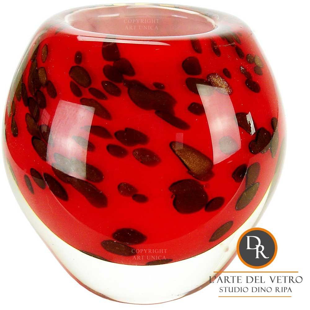 Vaas glaskunst model Ferrara Dino Ripa