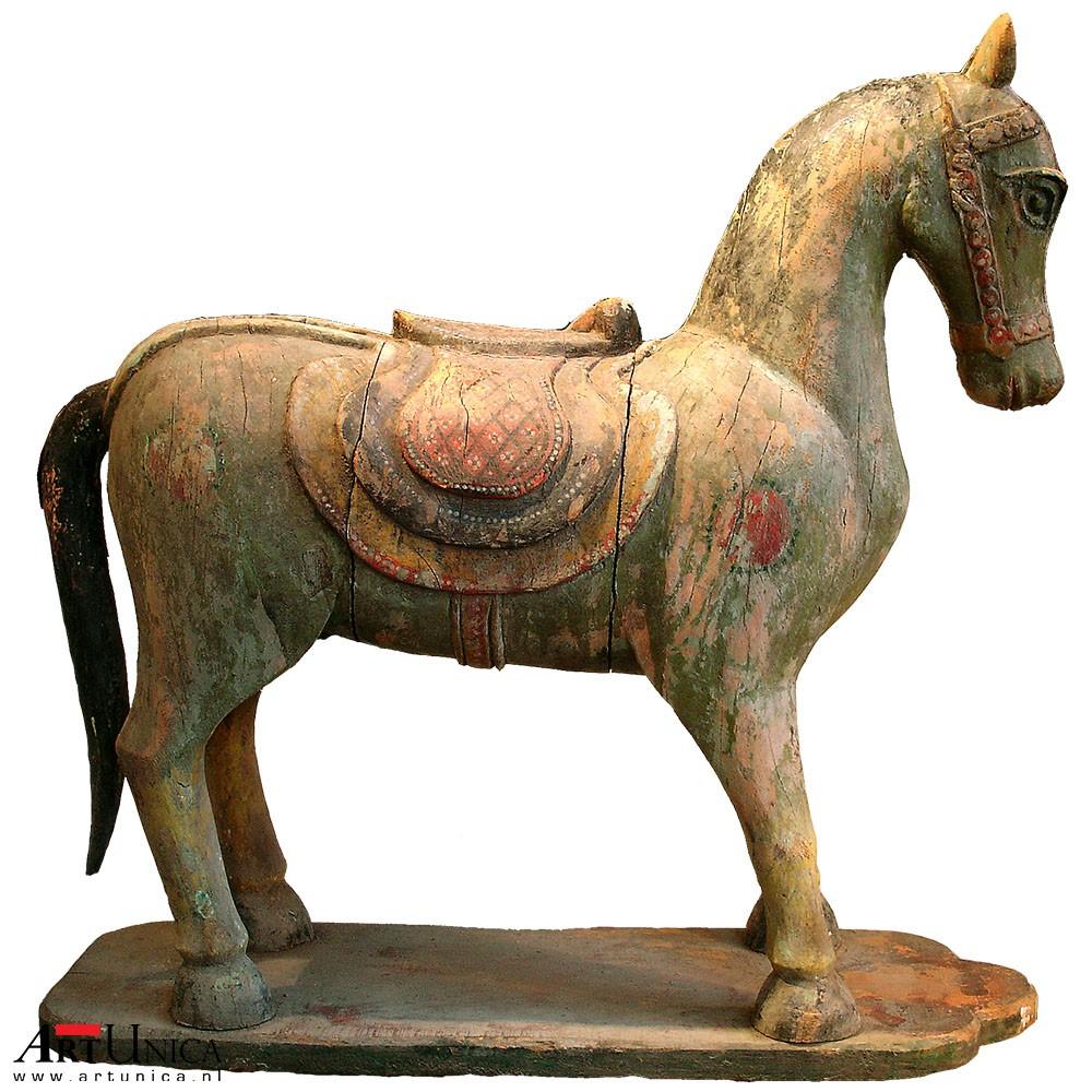 Houten paard, uniek antiek Art Unica Kunst Amersfoort