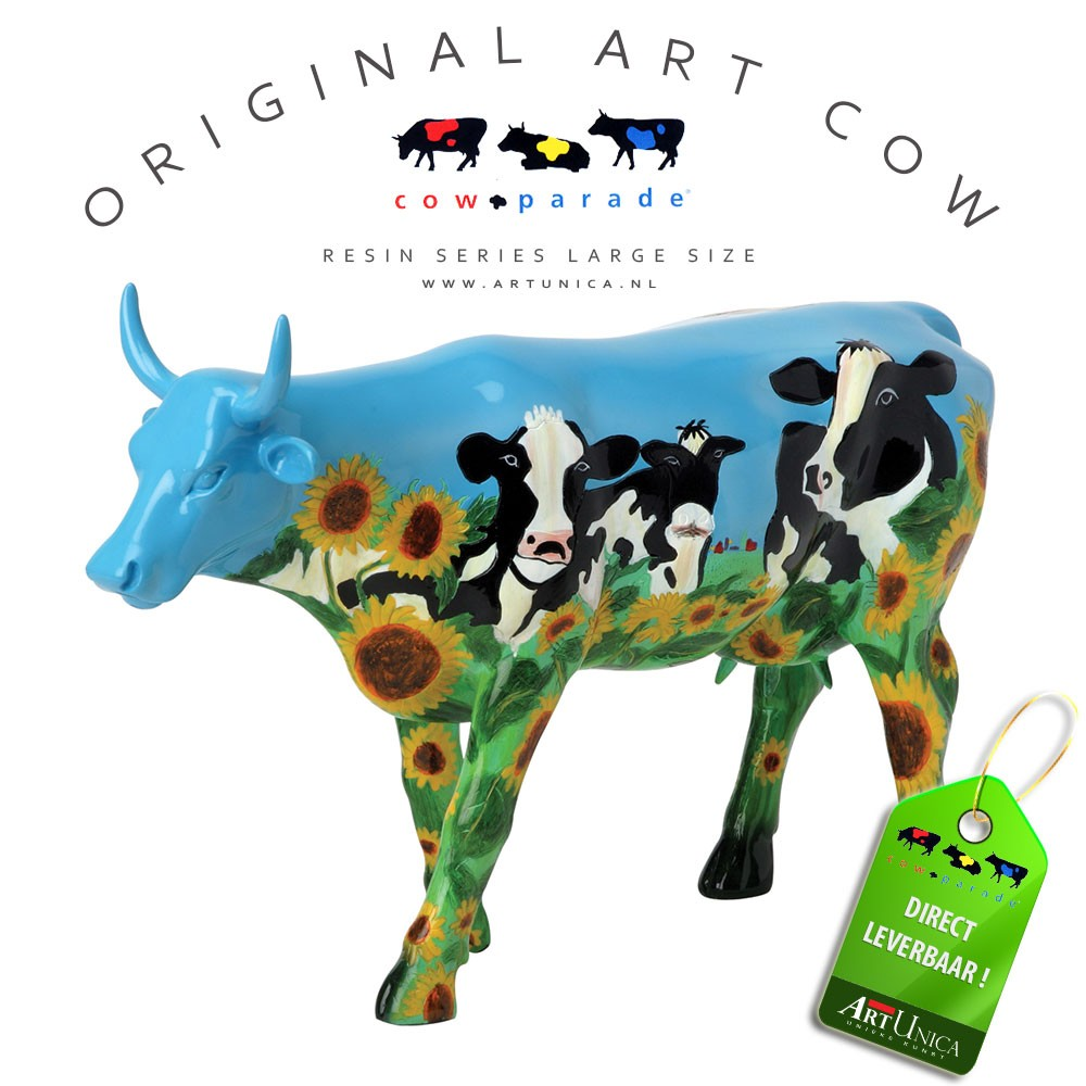 Koebeeldje groot Cow Barn Art Unica