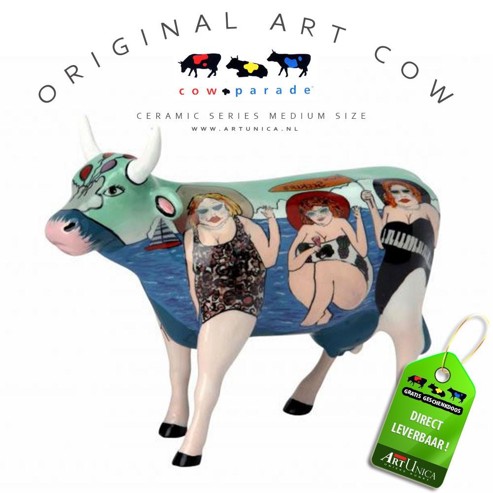 Art Cow Koeienbeeldje keramiek Fun Seeker Art Unica