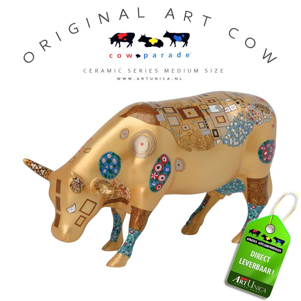 Art Cow koeienbeeldje keramiek Klimt Cow Art Unica