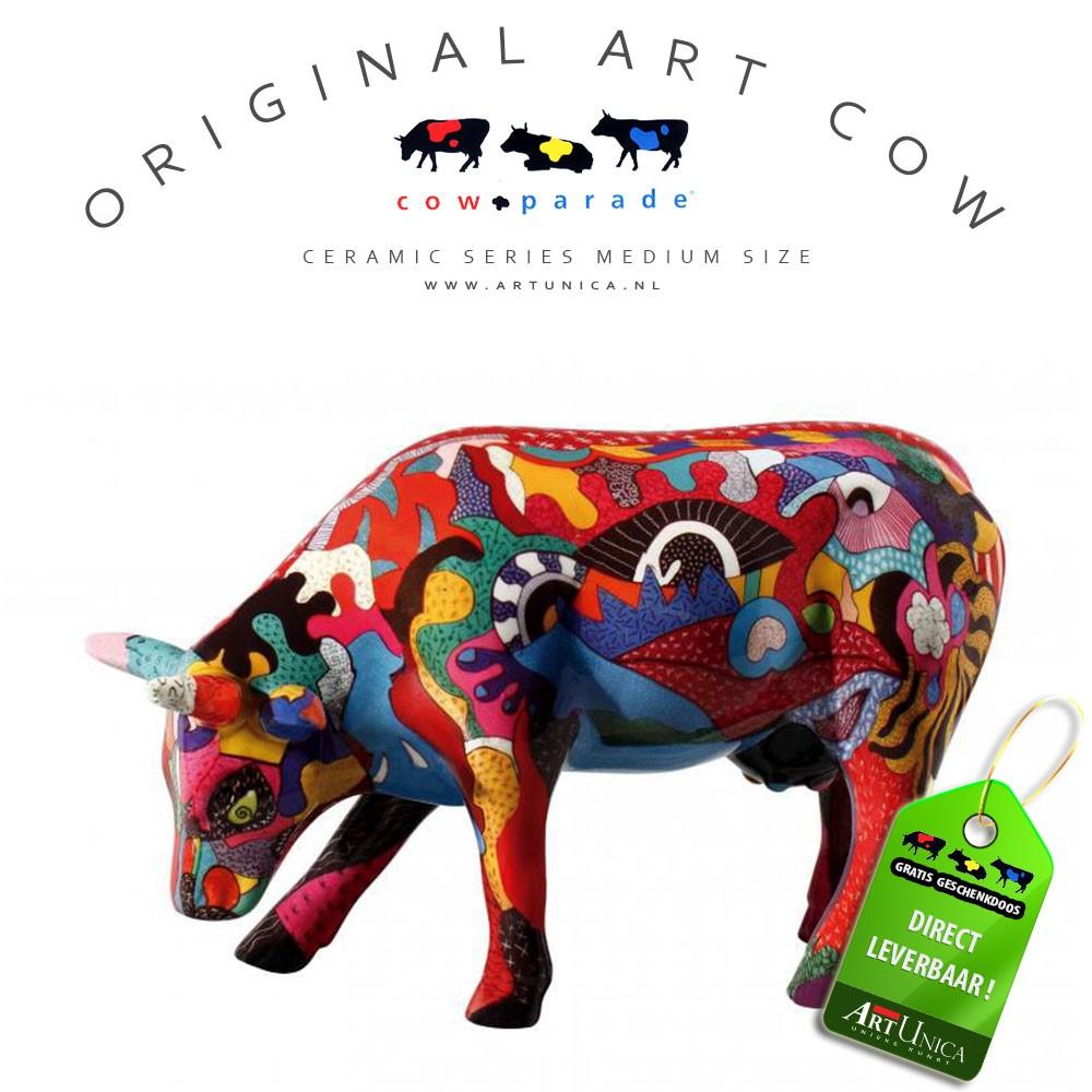 Cow Parade Koebeeldje Picasso keramiek Art Unica