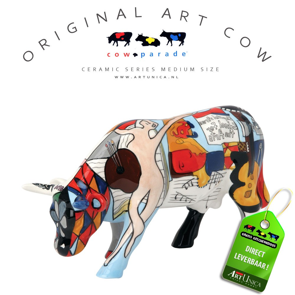 Koeienbeeldje Keramiek Art Cow Picoso's School for the Arts Art Unica