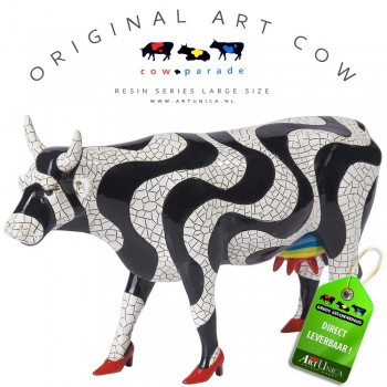 Paraiso Tropical Art Cow koebeeldje