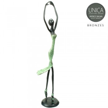 Ballerina bronzen beeld