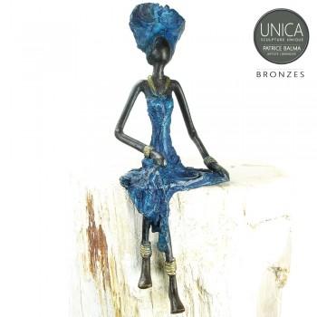 Florence Bronzen beeld Afrikaanse vrouw Art Unica