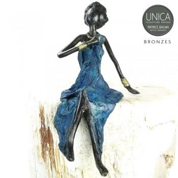 Eline beeld brons Afrikaanse vrouw