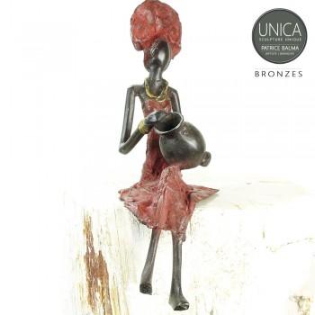 Afrikaans bronzen beeld Afrikaanse vrouw