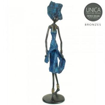 Assetou Afrikaans bronzen beeld