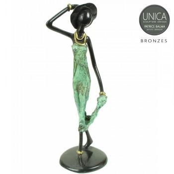 Afrikaanse vrouw bronzen beeld Chenelle Patrice Balma