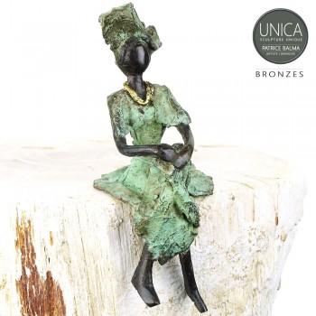 Afrikaans beeldje vrouw zittend titel Moraine