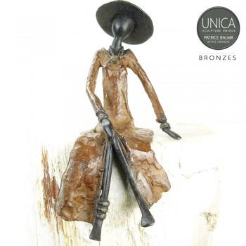 Adeline Afrikaanse vrouw brons Art Unica