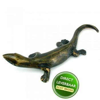 Bronzen beeldje salamander Art Unica