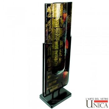 Glaskunst vaas Prato Nero Oro