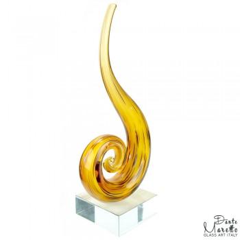Glassculptuur Harmonie Geel
