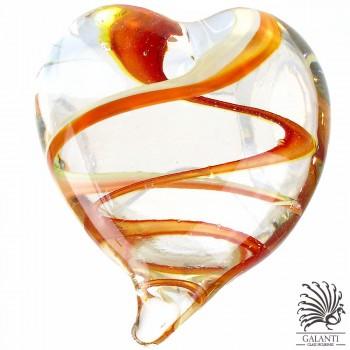 Hart glas Amore glaskunst