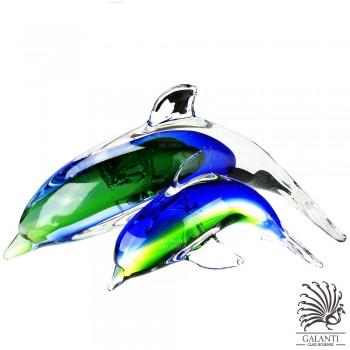 Dolfijnen beelden glas