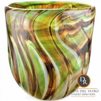 Dino Ripa glazen vaas groen