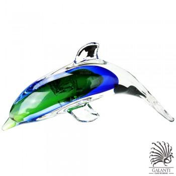 Dolfijn beeld glas Blauw groen