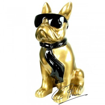 Soul Man Design beeld hond goudkleurig