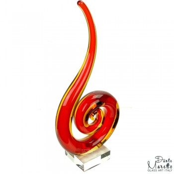 Glassculptuur Harmonie rood