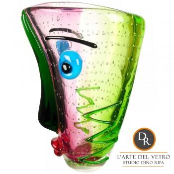 Dino Ripa unica glassculptuur Faccia Comico