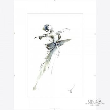 Ballerina schilderij Expressive