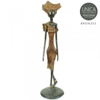 Bronzen beeld Burkina Faso titel Hortense