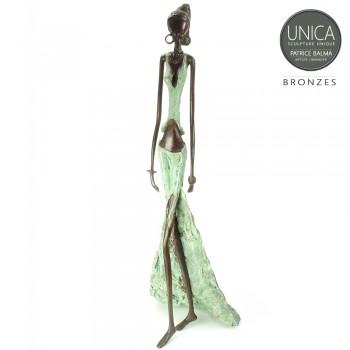 Afrikaans beeld brons vrouw Felicienne