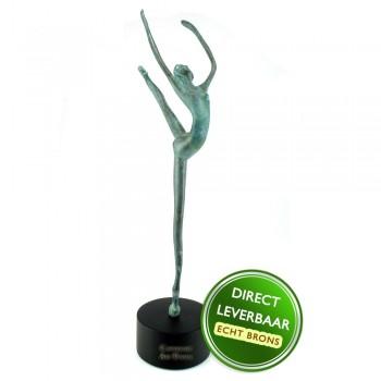 Bronzen beeldje danseres op voet Art Unica Amersfoort