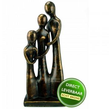 Bronzen beeldje Familie Art Unica galerie en Kunstwinkel Amersfoort