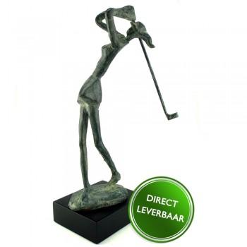 Bronzen beeldje Golfster Galerie en Kunstwinkel Art Unica Amersfoort