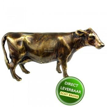 Bronzen beeld koe Art Unica