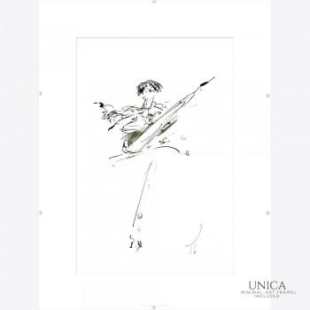 Inktschilderij Ballerina titel Expressive
