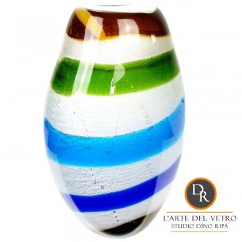 Veroli Vaas glaskunst blauw
