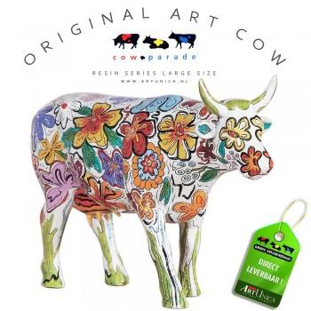 Vaca Floral Koebeeld beschilderd