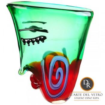 Vaas Glaskunst model Faccia Dino Ripa