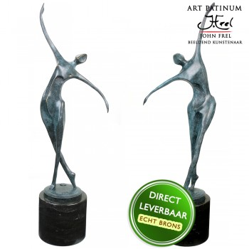 Life Dance set bronzen beelden Unica
