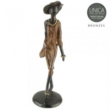 Bronzen beeld Gracielle vrouw