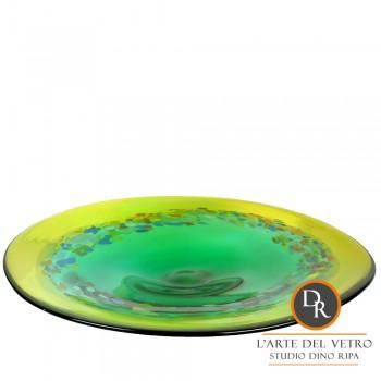 Piatto Verde glaskunst schaal Unica