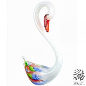 Witte zwaan beeld glas