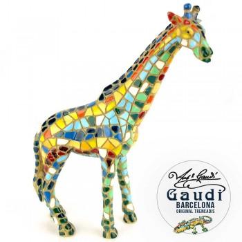 Giraffe beeldje Gaudi mozaiek
