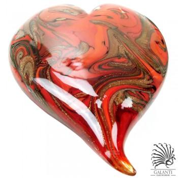 Hart glas rood Amore glaskunst